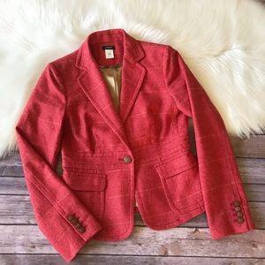 J. Crew Wool Blazer Jacket Scottish Cloth Sz 4
